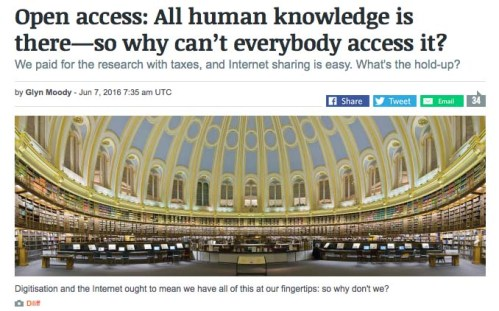 Glyn Moody: Open Access: All human knowledge is there - so why can't everybody access it? (click the image...)