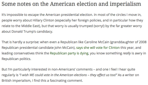 Some notes on the American election and imperialism (click image to read the article)